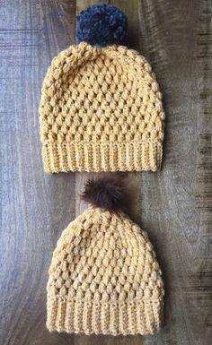 Pattern: Slouchy puff stitch beanie                                                                                                                                                                                 More