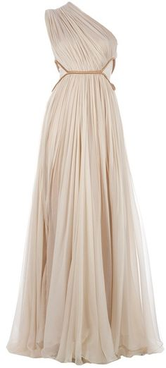 Maria Lucia Hohan Keisha Dress - Lyst ... Grecian one shoulder gown ... old Hollywood glamour