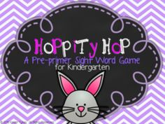 Hop to it Give Away! - Easter Center game givewaway!  See product description!  3 lucky winners will win this product!  Happy Easter!.  A GIVEAWAY promotion for Hoppity Hop Sight Word Game (Pre-Primer) from KinderTykes on TeachersNotebook.com (ends on 3-30-2015)