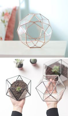 Handmade Geometric Terrariums by Waen #etsywedding #weddinginspiration #weddingdecor #weddinginspo