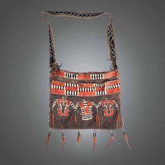 Native American Indian artifact from the Warnock collection - Ottawa - (Odawa) Bag