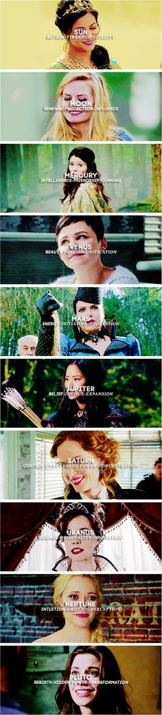 Once Upon a Time Ladies +  planet symbolism