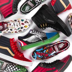 The Vans x Marvel collection is here!  The two brands connect for an insane collection, including shoes and apparel!  Soon available!