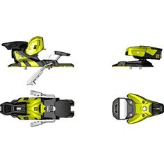 The Salomon WTR 13 is designed for skiers looking for a high amount of energy transfer and durability. The Oversized Platform improves control and torsiona Snowboarding Gear, Ski And Snowboard, Cole Sport, Park City Mountain, Black N Yellow, Black And White, Ski Bindings, Ski Shop, Paddle Boarding