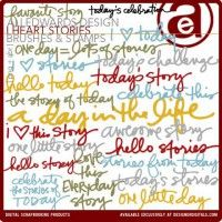 I Heart Stories Brushes and Stamps by Ali Edwards