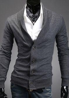 Nowość 2013 męski sweter rozpinany z dzianiny
