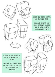 """""""Starting a mini drawing tips series, the first one is about drawing the head from different angles! Hope it's helpful//"""""""