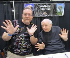 """Me with Wallace Shawn, costar of the """"Toy Story"""" series, """"Clueless"""", """"My Dinner with Andre"""", and """"The Princess Bride"""" a.k.a. """"The Amazing Adventures of the Inconceivable Sicilian""""."""