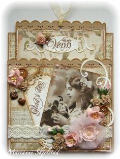 vintage card by MariannesPapirverden