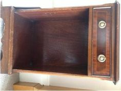 Lovely little mahogany lamp table/cabinet with drawer Merchiston Picture 1