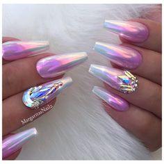 Chrome Ombré Coffin Nails Lavender nail art design • • • • • #nails #nailart#coffinnails#MargaritasNailz#vetrogel#nailfashion#naildesign#nailswag#hairandnailfashion#nailedit#nailcandy#nailprodigy#ombrenails#nailsofinstagram#nailaddict#nailstagram#chromenails#instagramnails#nailsoftheday#nailporn#coffinnails #nailsmagazine#nailpro#unicornchrome#naildesigns#ombre#vetrousa#pinknails#chrome#pinkchrome