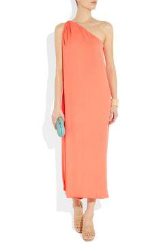 Diane von FurstenbergLiluye One-Shoulder Crepe Gown