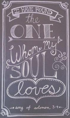 Valentine's Day chalkboard art