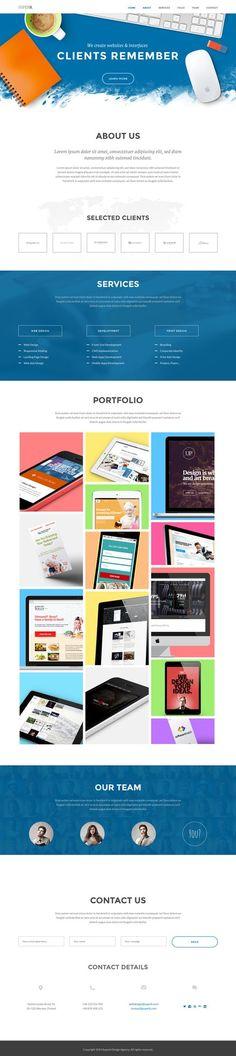 Superb Website Template by sandracz on deviantART