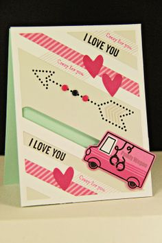 Crazy For You Card by Erin Lincoln for Papertrey Ink (February 2014)
