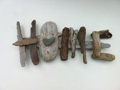 Driftwood Art - could do this with desert wood too -