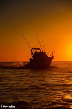 Cabo San Lucas, Mexico Fishing at sunris