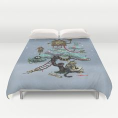 Christmas Tree Duvet Cover by Anna Shell - $99.00