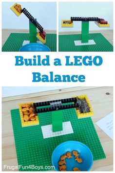 Here is a fun LEGO math activity - Build a real working balance out of LEGO!