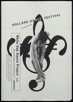 Bob van Dijk (Studio Dumbar) – Holland dance festival the hague – 1995