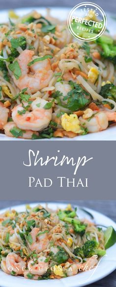 Shrimp Pad Thai - made with ingredients from the Asian food aisle of my neighborhood grocery store, and it tastes pretty close to the version we all know and love served at most Thai restaurants!