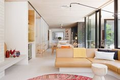Owner and architect Clare Cousins revived her family's Edwardian house with a modern sculptural extension. The extended Edwardian house takes all of Clare Decor, Home, Melbourne House, Living Design, Brick House, Edwardian House, Open Plan Living, House, Interior Design