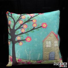 NEW Vintage Cotton Linen Cushion Cover Home Decor Decorative pillow case tree
