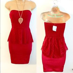 G by guess red dress lace