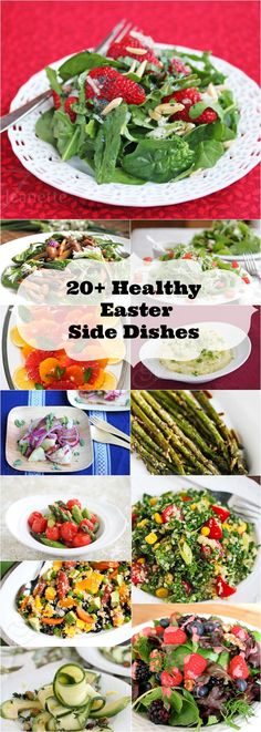 20 Healthy Easter Side Dish Recipes © Jeanette's Healthy Living. These are perfect for this week's dinner!