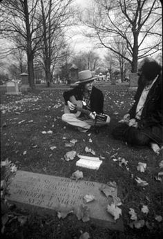 ...Bob Dylan(my main man) and Allen Ginsberg(absolutely brilliant) at Jack Kerouac's grave...tell me this isn't an EPIC pic...Ω