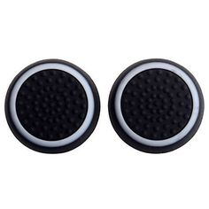 Gotor 2 Silicone Thumb Grip Stick Cover Caps For Xbox 360 Xbox one Sony PS4 PS3 PS2 Analog Controller Black with White Edge *** Click image to review more details.