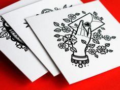 Postkarten Tattoo   KROOLS. Design: Yury Ustsinau