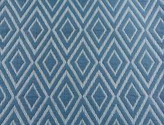 Baby Blue Diamond Geometric Fabric Yellow by MuranoHomeFurnishing