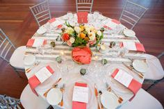 Chiqui & Ita: Gray and Coral Wedding