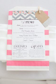 fab to the ulous menus by http://www.etsy.com/shop/hooplalove  Photography by carolinefrostphotography.com