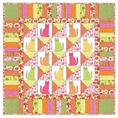 Create this gorgeous GO! Kitty-Kitty Quilt and you'll be the cat's meow .  What a great present for the cat lovers. Watch the Video on How to Download PatternsPattern Downloads are best viewed using the latest versions of  Adobe Reader  and Internet Explorer . Compatible with these fabric cutters: GO!Studio**Must use with GO! Die Adapter