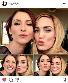 caity lotz and chyler leigh Legends Of Tomorrow Cast, Legends Of Tommorow, Supergirl Dc, Supergirl And Flash, Arrow Flash, Alex Danvers, White Canary, Dc World, Chyler Leigh