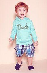 (Surfer/Cali Baby) Peek Hoodie & Plaid Shorts, Babiators Sunglasses & TOMS Slip-On (Infant)
