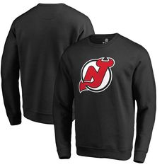 New Jersey Devils Fanatics Branded Primary Logo Pullover Sweatshirt - Black