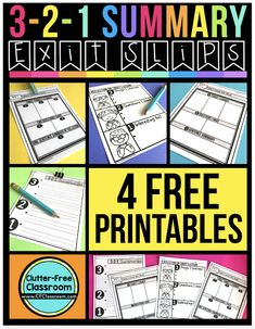 This summary product from the Clutter Free Classroom is free! This open-ended formative assessment lends itself to many different content areas. This easy no-prep printable is ready for you to try out with your students! Paragraph Writing, Persuasive Writing, Writing Rubrics, Opinion Writing, Data Binders, Life Skills Classroom, Exit Slips, Student Goals, Exit Tickets