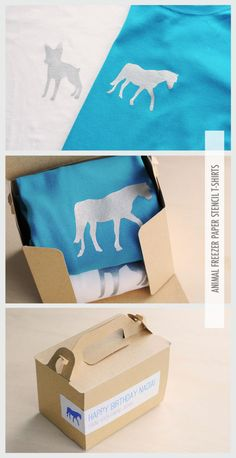 Sally J Shim - BLOG - [MAKE] ANIMAL FREEZER PAPER STENCIL T-SHIRTS - these look so awesome!