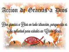 Demos gracias a Dios por sobre toda las cosas. Feliz Dia de Accion de Gracias!