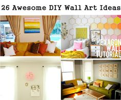 26 Awesome DIY Wall Art Ideas - http://homerepairimprovementremodeling.com/2014/01/2-awesome-diy-wall-art-ideas-2/