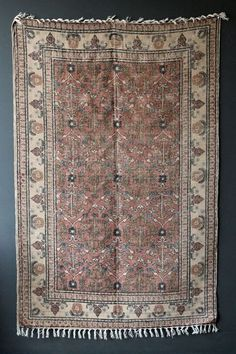 Cotton & Jute Natural Coloured Printed Stonewashed Dhurrie Rug - Rugs - Rugs & Flooring