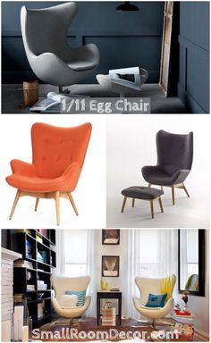 Swing egg chair for contemporary living room #eggchair #chairlivingroom #livingroomsofa
