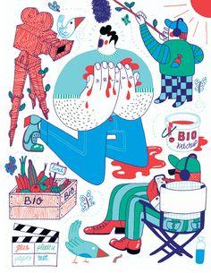 Zeloot: Illustration for Vrij Nederland