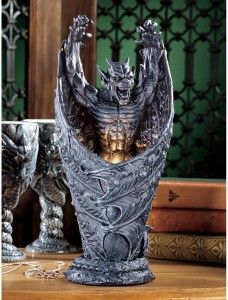 Dark Shadows Gargoyle Sculptural Lamp - Gothic Decor