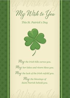 May the blessings of St. Patrick behold you. Share this card with your friends and family! Send a card for $1.98 when sharing from Sendcere.com. Click to send this card.