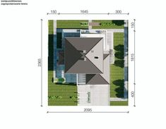 DOM.PL™ - Projekt domu CPT HomeKONCEPT-64 CE - DOM CP1-80 - gotowy koszt budowy Duplex House Plans, Anton, Projects To Try, Floor Plans, How To Plan, Build House, Floor Plan Drawing, House Floor Plans