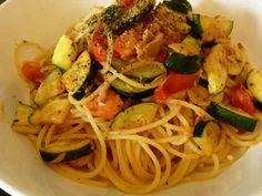 簡単☆ズッキーニとトマトとツナのパスタの画像